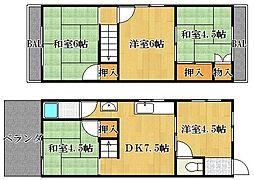 [タウンハウス] 大阪府茨木市沢良宜東町 の賃貸【/】の間取り
