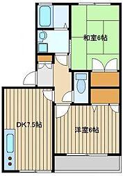 ディアスサカエ[2階]の間取り