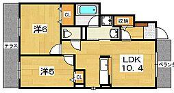 ルピナスA棟[1階]の間取り