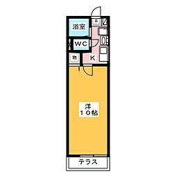 レトア花池II[1階]の間取り