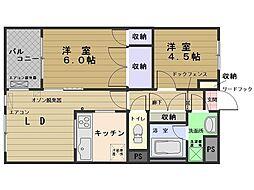 リエスすみよし台[6階]の間取り
