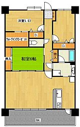 コアマンションマリナシティ長崎 B棟[1402号室]の間取り