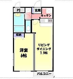 神奈川県横浜市南区中村町4丁目の賃貸マンションの間取り