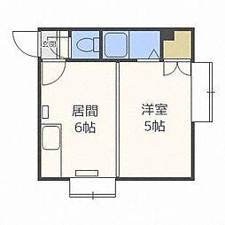 北海道札幌市東区北十七条東13丁目の賃貸アパートの間取り