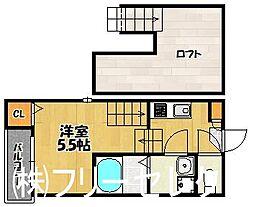 福岡県福岡市博多区山王1丁目の賃貸アパートの間取り