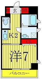 JR山手線 巣鴨駅 徒歩10分の賃貸マンション 7階1Kの間取り