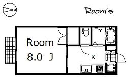 ポアロハイツ[206号室]の間取り