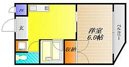 ハイム成城[4階]の間取り