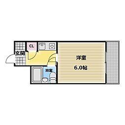 ハイツTERADA[5階]の間取り