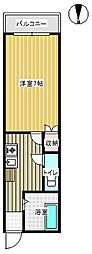 セレサフロール藤ヶ丘[102号室]の間取り