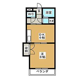 トキワハイツ[1階]の間取り