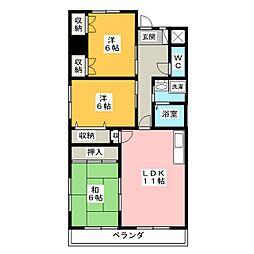 第2アイリス近藤[8階]の間取り