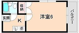 ロイヤル南桜塚[3階]の間取り