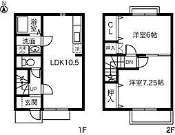 [テラスハウス] 愛知県あま市石作 の賃貸【/】の間取り