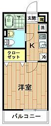 神奈川県川崎市中原区市ノ坪の賃貸マンションの間取り