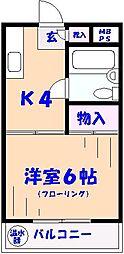 柿ノ木ハイツ[302号室]の間取り
