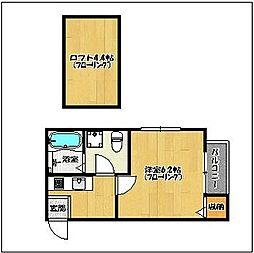 コンファートみかさ2[2階]の間取り
