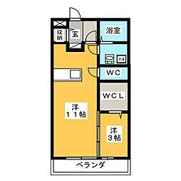 ベルキャッスル[2階]の間取り