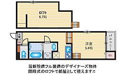 Harmony Terrace~Felice~千林大宮[203号室]の間取り