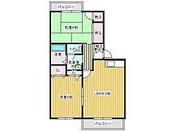 兵庫県神戸市垂水区山手4丁目の賃貸アパートの間取り