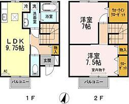 [テラスハウス] 広島県福山市西深津町7丁目 の賃貸【/】の間取り