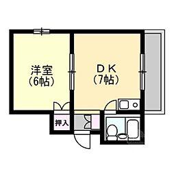 JPアパートメント門真[1階]の間取り