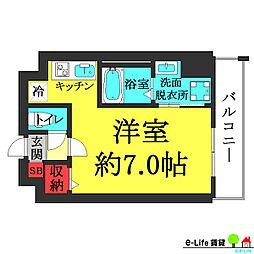 大阪府大阪市住吉区長居東4の賃貸マンションの間取り