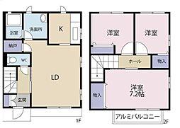 [テラスハウス] 埼玉県さいたま市浦和区岸町5丁目 の賃貸【/】の間取り