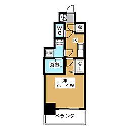 アスヴェル京都市役所前II[7階]の間取り