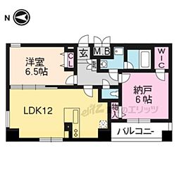 JR東海道・山陽本線 京都駅 徒歩10分の賃貸マンション 1階2LDKの間取り