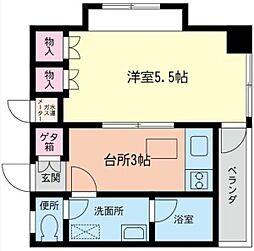 丸大コーポ[3階]の間取り