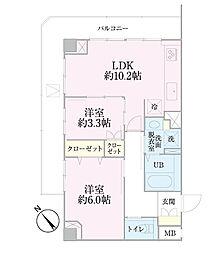 中新井サンライトマンション[5階]の間取り