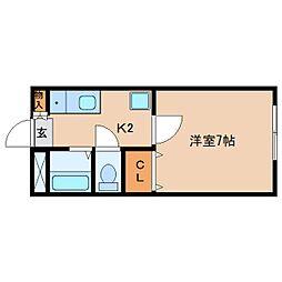 静岡県静岡市清水区大手3丁目の賃貸アパートの間取り