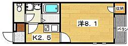 クレイノ葵[1階]の間取り