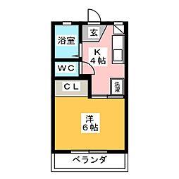 フォーブル山花[2階]の間取り