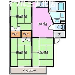 ロジュマン B棟[2階]の間取り