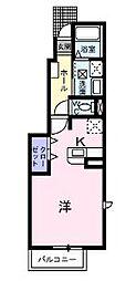 広島県福山市東深津町3丁目の賃貸アパートの間取り