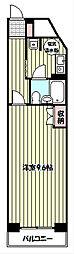 エスカイア池袋[4階]の間取り