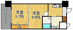 No.65クロッシングタワー[18階]の間取り