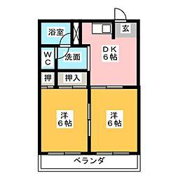 メゾンビューラー[3階]の間取り