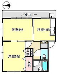 開拓荘5号棟[56号室号室]の間取り