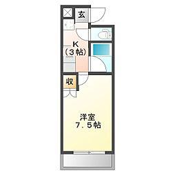 エスパシオ千代崎[3階]の間取り