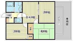ルミエール飾磨Ⅱ[205号室]の間取り