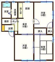 ラフォーレ山下2 105号室[1階]の間取り
