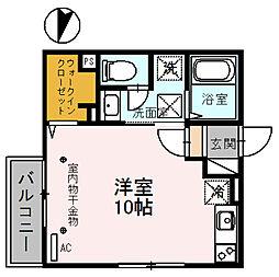 copain・court[1階]の間取り
