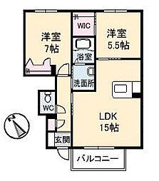 ピアタウン D棟[108号室]の間取り