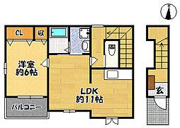 サンハイツ北六甲六番館[2階]の間取り