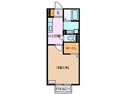 オランジュベール B棟[2階]の間取り