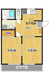 ジュネスコトーPart3[1階]の間取り