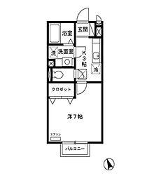 ブランシェ倉賀野[1階]の間取り